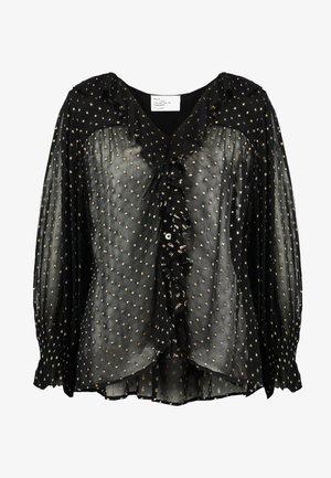 CHAMPETRE DOTS - Button-down blouse - black iris