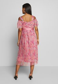 Anaya with love Maternity - PLEATED COLD SHOULDER MIDI DRESS WITH TIE BELT - Denní šaty - pink - 2
