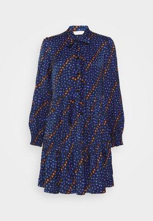 Shirt dress - bleu/noir