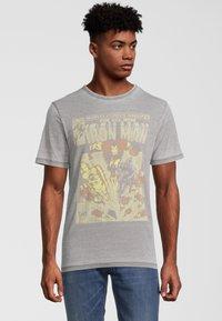 Re:Covered - MARVEL IRON MAN - T-shirt print - grau - 0