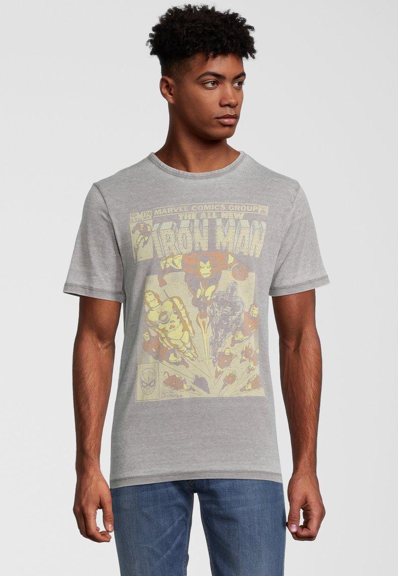 Re:Covered - MARVEL IRON MAN - T-shirt print - grau
