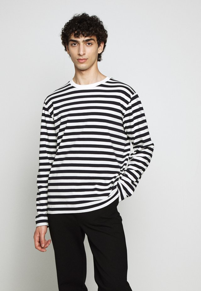 TEDDY STRIPE - Maglietta a manica lunga - navy/creme