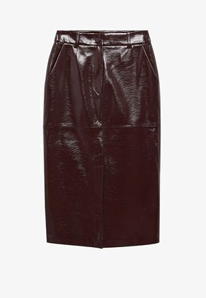 Leather skirt - donkerrood