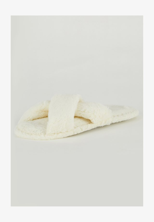 Pantoffels - ecru