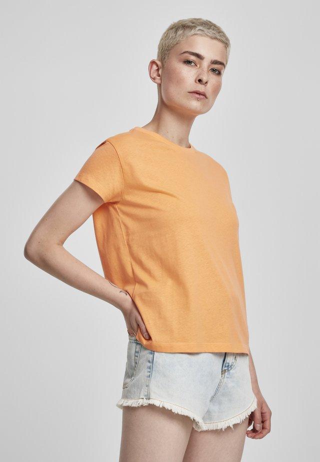 Jednoduché triko - papaya