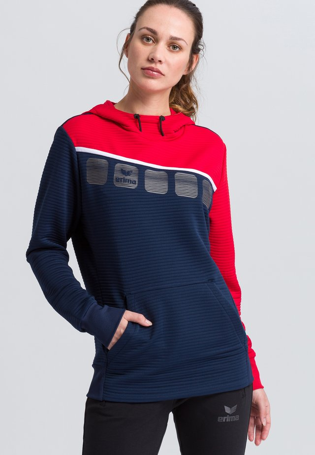 Hoodie - navy/red/white
