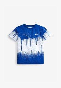 Next - SPLAT  - Print T-shirt - blue-grey - 0
