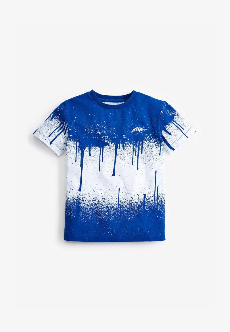 Next - SPLAT  - Print T-shirt - blue-grey