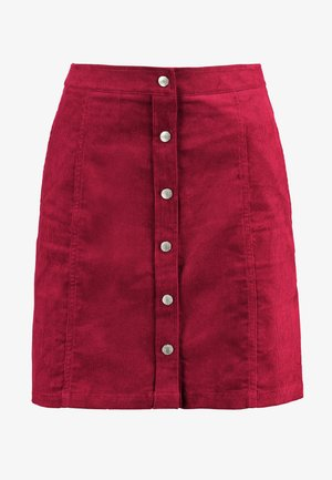 BUTTON DOWN SKIRT - Falda acampanada - beet red