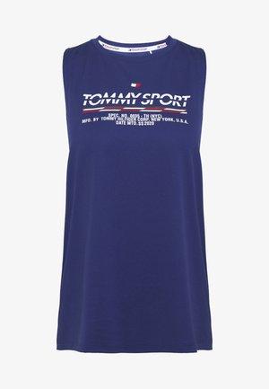 PRINTED TANK - Sports shirt - blue
