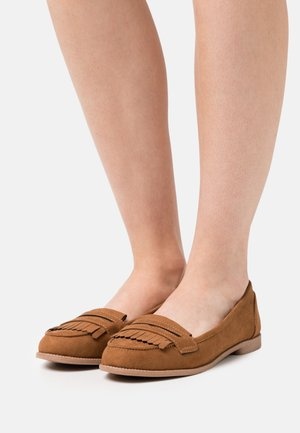 LEO TASSLE LOAFER - Slip-ons - tan