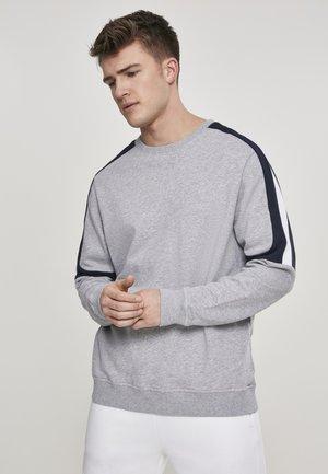 TERRY PANEL  - Mikina - grey/navy/white