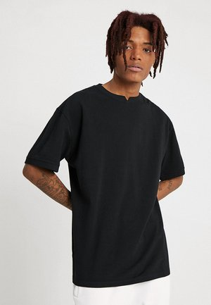 GARMENT DYE OVERSIZED TEE - Basic T-shirt - black