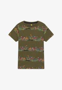 Lemon Beret - TEEN BOYS  - T-shirt print - burnt olive - 2