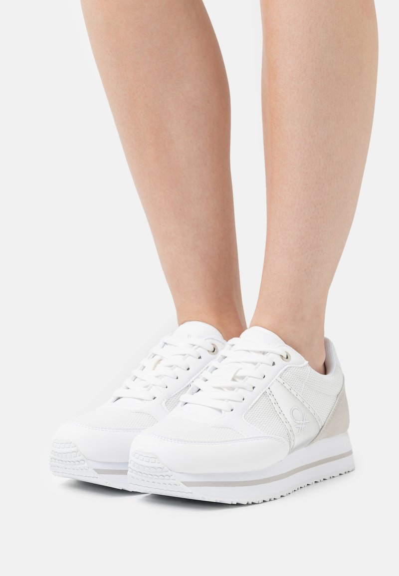 Benetton - BULL - Sneakers laag - white/silver