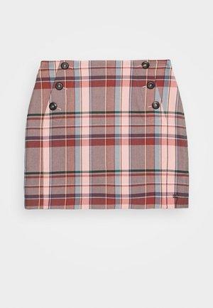 BLEND CHECK MINI SKIRT - Mini skirt - multi-coloured