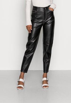RIA TROUSERS - Kalhoty - black