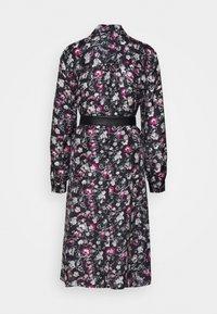 KARL LAGERFELD - ORCHID PRINT DRESS - Shirt dress - black - 1