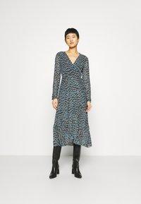 Fabienne Chapot - NATASJA FRILL DRESS - Day dress - dusty blue/taupe - 0