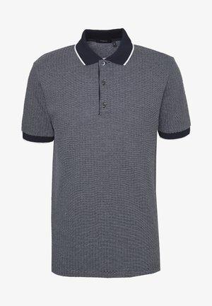 GEO ZELIG JACQUARD - Polo shirt - eclipse/white