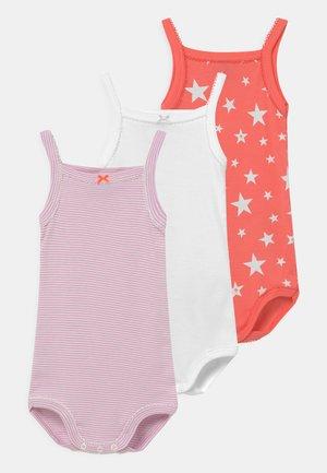 BRETELLE 3 PACK - Body - white/pink