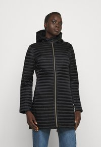 Save the duck - IRIS ALBERTA LONG HOODED COAT - Winter coat - black - 0
