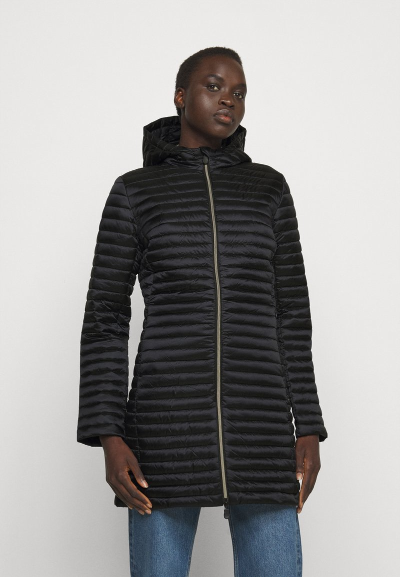 Save the duck - IRIS ALBERTA LONG HOODED COAT - Winter coat - black