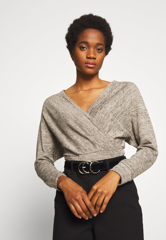 MARL WRAP - Pullover - stone