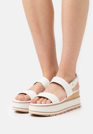 ONALISA - Platform sandals - white