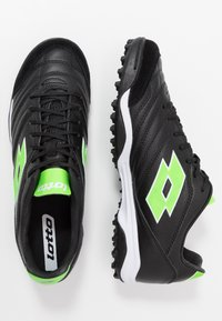 Lotto - STADIO 300 II TF - Voetbalschoenen voor kunstgras - all black/spring green - 1