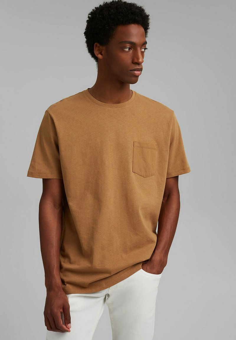 Esprit - Basic T-shirt - camel