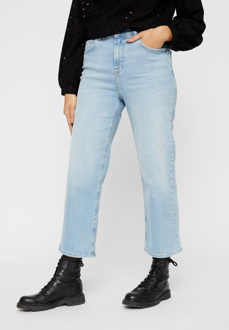 Pieces - Straight leg jeans - light blue denim