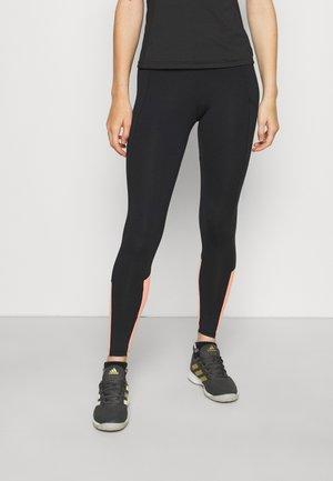 MALLAS LIFT - Legging - black/orange/white