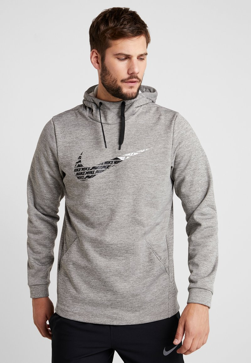 Nike Performance - THERMA  - Hættetrøjer - grey heather