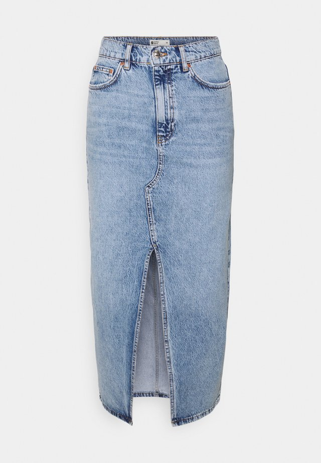 LONG SKIRT - Gonna di jeans - blue