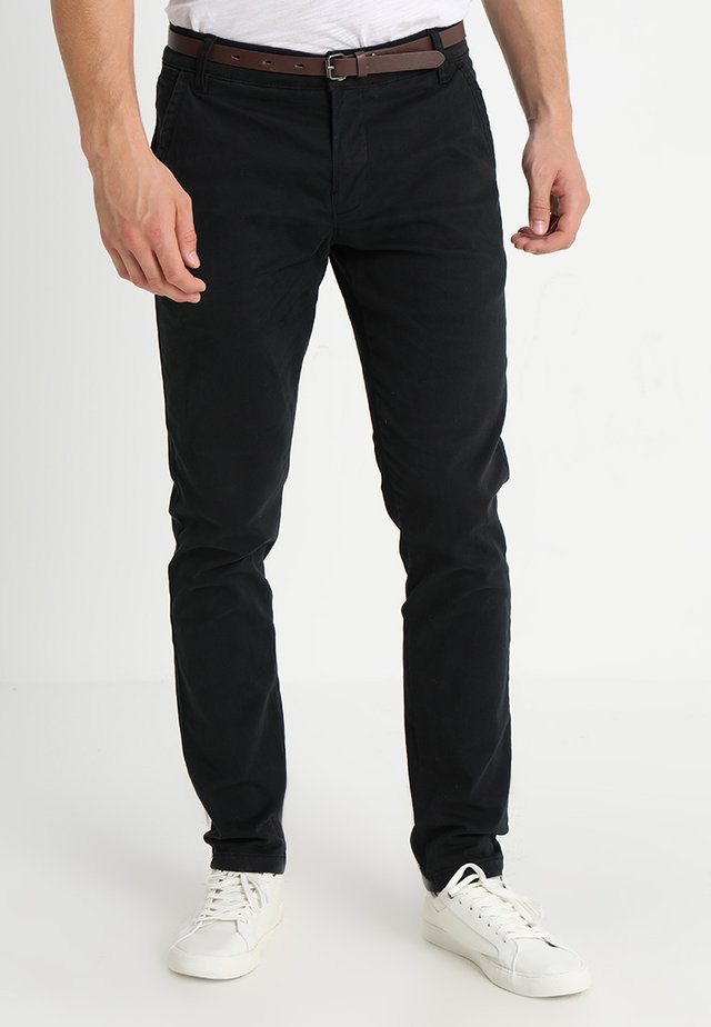 CLASSIC WITH BELT - Chino - black