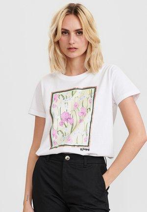 NUCOMET - Print T-shirt - bright white