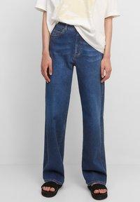 Marc O'Polo DENIM - Straight leg jeans - multi/clean cobalt dark blue - 0