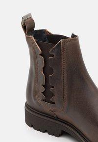 Shelby & Sons - RIDGACRE CHELSEA BOOT - Kovbojské/motorkářské boty - brown - 5
