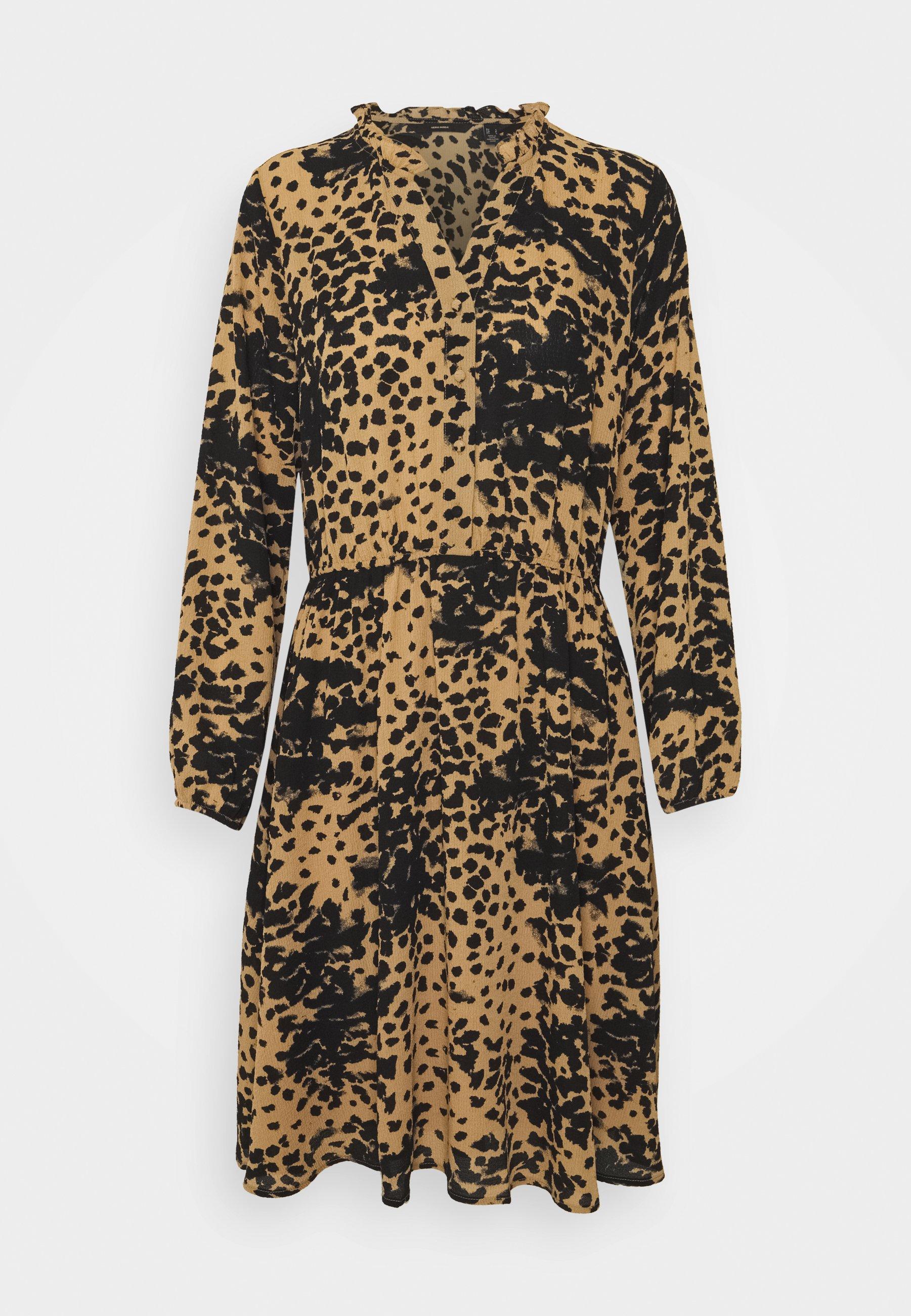 Donna VMAYA V NECK DRESS - Abito a camicia