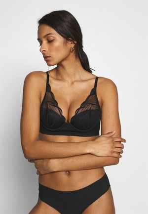 AUTOGRAPH HIGH APEX LONGLINE PLUNGE - Soutien-gorge triangle - black