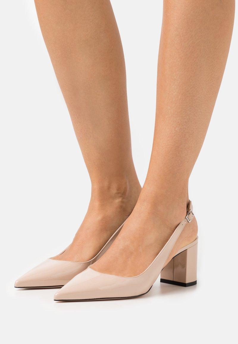 HUGO - INES SLING - Classic heels - light beige