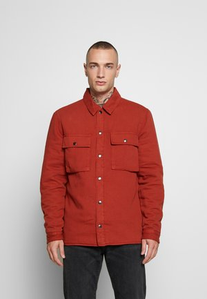 QUILTED POPPER - Light jacket - tobacco