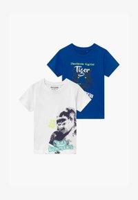 Blue Seven - SMALL BOYS TIGER GORILLA 2 PACK - Print T-shirt - blue/white - 0