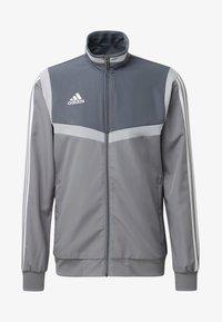 adidas Performance - TIRO 19 PRE-MATCH TRACKSUIT - Training jacket - grey/ white - 6