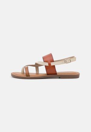 Sandalias de dedo - camel
