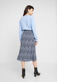 Moss Copenhagen - CELINA MOROCCO SKIRT - A-line skirt - blue - 2