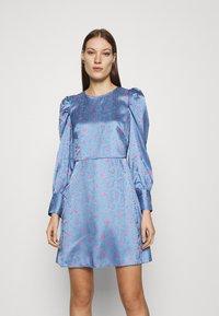 Closet - CLOSET PUFF SLEEVE MINI DRESS - Day dress - blue - 0
