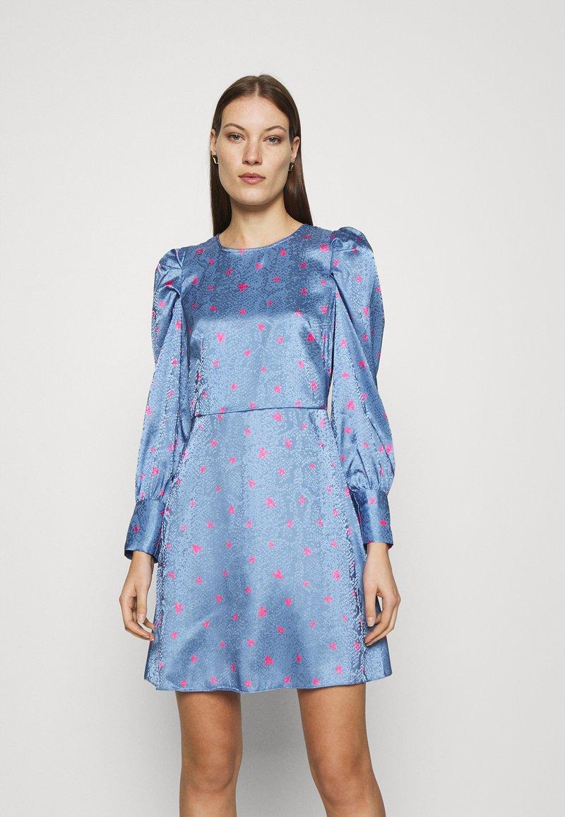 Closet - CLOSET PUFF SLEEVE MINI DRESS - Day dress - blue
