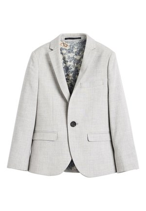 NAVY SKINNY FIT SUIT JACKET (12MTHS-16YRS) - blazer - grey